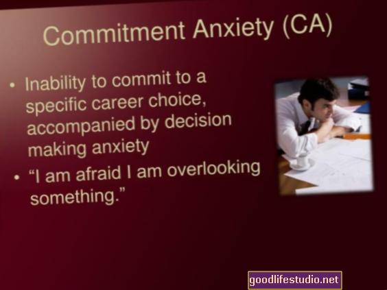 Ansiedad e incapacidad para comprometerse en el trabajo, la escuela, las relaciones