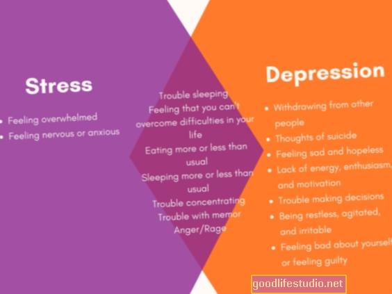 Stress verursacht Depressionen