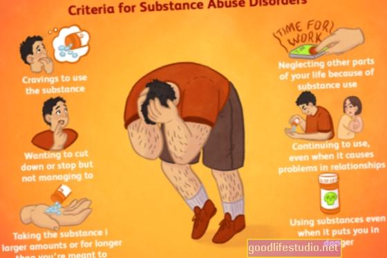 Sintomi del disturbo da uso di sostanze