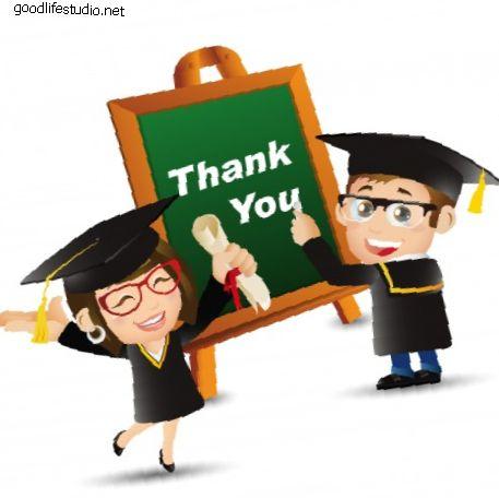 35 mensajes de agradecimiento de la tarjeta de graduación