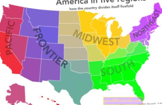 Kawasan A.S. yang berbeza menunjukkan keperibadian yang berbeza
