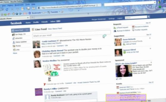 La actividad de Facebook no conduce a la depresión