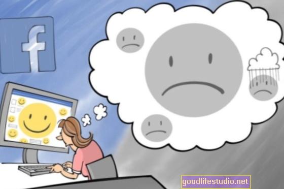 Comparaciones de Facebook relacionadas con síntomas depresivos