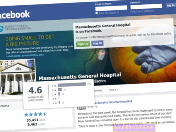 ソーシャルメディアでの病院の評価は真の医療の質を反映している