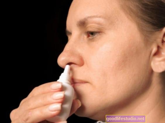अवसाद के लिए नाक स्प्रे पशु अध्ययन में प्रभावी पाया गया