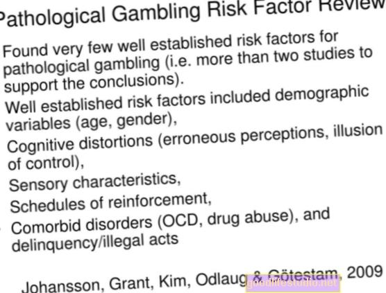 Patologinis lošimas, susietas su neegzistuojančių modelių suvokimu
