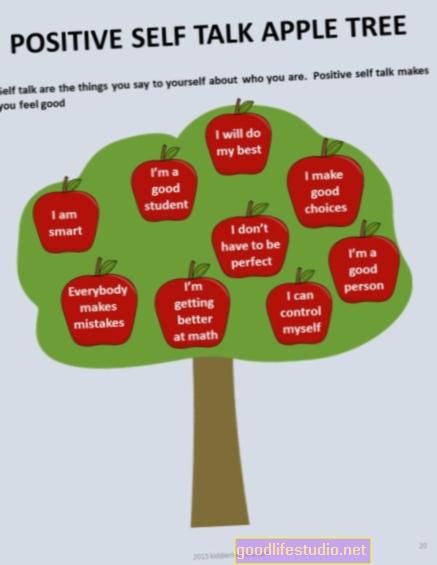 Il dialogo interiore positivo può aiutare i bambini a migliorare i punteggi dei test