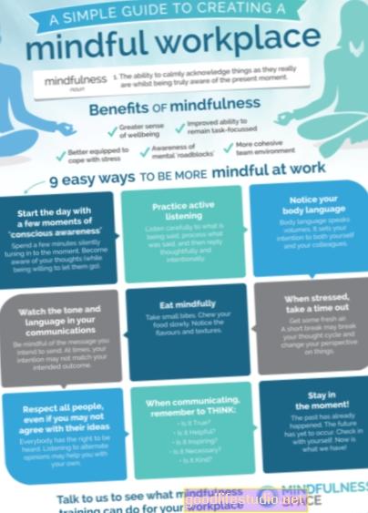 La atención plena en el lugar de trabajo puede reducir el estrés en el trabajo