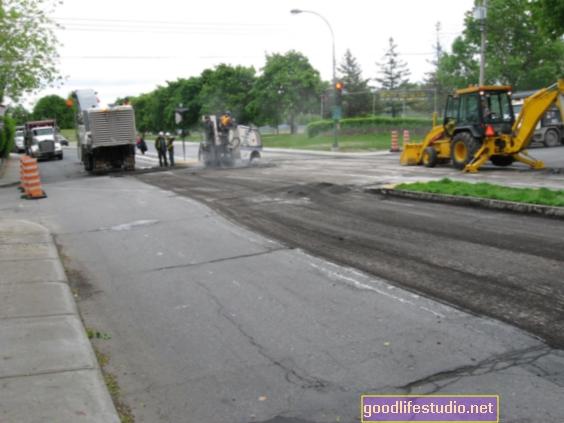 Repavimentación de la carretera